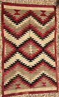 Classic Large Navajo Rug,nice serrated saltillo designs,c1930, handspun wool,NR!