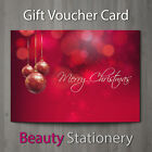 Christmas Gift Voucher Blank Beauty Salon Card Coupon Massage Therapist A7+Env. <br/> Ready to use free uk postage high quality christmas