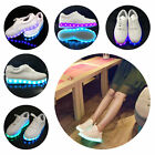 Men Girl LED USB Light Up Unisex Shoes Trainers Sneakers Flat Luminous Sneaker