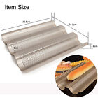 French Bread Baking 3 Loave Mold Baguette Mould Tray Liner Loaf Pan Pastry Tools