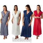 Ladies Satin Nightdress/Nightie/Long Chemise Size 10, 12, 14, 16, 18, 20 NEW