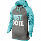 $55 Nike 715593-069 Women Therma-fit All Time Just Do It Graphic Hoodie Grey Cop
