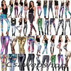 2016 3D Graphic Colourful Printed Women Leggings Pants Yoga Gym Funky Jegging