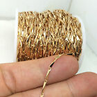 10 Yards Rose Gold Faceted Bar Chain Welded Link Jewelry Findings 1.0x8.0mm