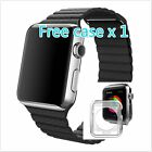 Stone Leather Loop Soft Watch band Strap for Apple Watch 38mm 42mm Free Case 1