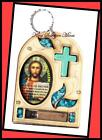 MARY CROSS JESUS CHRIST CHRISTIANITY WALL HOME BLESSING HOLY EARTH TURQUOISE GEM