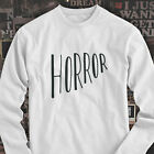 Horror Halloween Scary Gore Costume Vampire Blood Mens White Long Sleeve T-Shirt