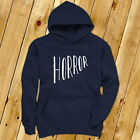 Horror Halloween Scary Bloody Costume Vampire Mens Navy Hoodie