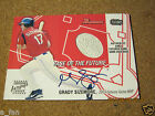 2004 Bowman Base of the Future Autographs GS Grady Sizemore Game Used Base Auto