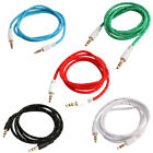 3.5mm Male to Male Nylon Audio Extension Cable Cord 1M Long for Car IPods