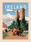 Ireland People Horse Carriage Dublin Travel Tourism Vintage Poster Repro FREE SH