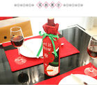 Hot Bling Red Wine Bottle Cover Bag Christmas Dinner Table Home Party Decoration