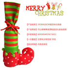 Xmas Elf Shoe Boot Suspenders Candy Gift Bag Christmas Stocking Socks