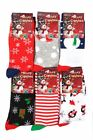 L078 LADIES MERRY CHRISTMAS DESIGN SOCKS SANTA XMAS TREE GIFT IDEA STOCKING NEW