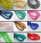 150Pcs Faceted Crystal Glass Beads Rondelle Necklace Findings 8x6mm Loose Spacer
