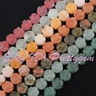 "14mm Coin Carved Flower Shape Material Gemstone Spacer Beads 15""/Lot Pink Stone"