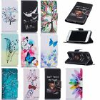 NEW Beautiful Patterned Leather Stand Card Wallet Flip Case For Samsung Phones