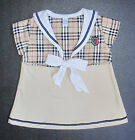 BABY GIRL DRESS, Designer Outfit, Top & Dress, Soft Cotton, Ages 0-9 Months Old