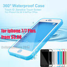 Waterproof Dustproof Rubber Phone Case Cover Fr Apple iPhone 7 8 Plus 5 5s 6 6s