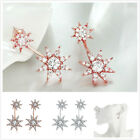 1Pairs New Charms Exquisite Sunflowers Zircon Ear Stud Earring Fit Party Lots C
