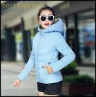 New Fashion Womens Elegant Cotton Blend Hooded Short waist Coats Sports Jackets
