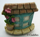 Fairy Garden Blue Window Mini Figurine Ganz Outdoor Fantasy Pink Plant Pot  NEW