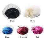 Feather Fascinator Flower Pillbox Hat British Style Bowler Hat for Women party