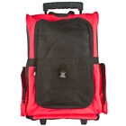 Red Pet Carrier Airline Dog Backpack Rolling Tote & Extending Handle WPC-Red