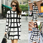 Women's Fashion Long Sleeve Casual Dress Evening Party Cocktail Dress Clubwear
