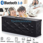 Bluetooth Portable Speaker Wireless Bass Stereo for PC Tablet Rechargeable Black
