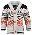 Boys Minoti Orange Chunky Collar Knitted Button Winter Cardigan 1 to 4 Years