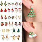 2017 Fashion Gold Women Pierced Xmas Christmas Studs Earrings New Year Gift New
