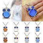 Fashion Jewelry Owl Rhinestone Crystal Pendant Necklace Long Sweater Chain Party