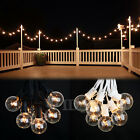 100 ft Outdoor Globe Patio String Lights 75 Sockets 90 G40 Clear Edison Bulbs