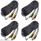 4pcs Black BNC CCTV Power Cable DVR Security Wired Cord Home Surveillance