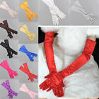 Women's Satin Long Gloves Opera Wedding High Quality Bridal Evening party GLOVES