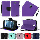 For ZTE Avid Trio ZTE Cheers PU Leather Wallet Flip Card Holder Cover Case