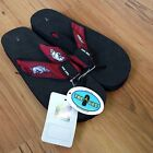 Arkansas Razorbacks HOGS Wms Sz 5 6 7 Sandals NCAA College Team Flip Flops Shoes
