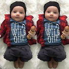 """I'm a wild one"" Baby Boy Kids Casual T-shirt Tops +Long Pants 2PCS Outfits Set"