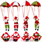 Christmas Party Decoration Parachute Snowman Santa Claus Toys Hanging Ornaments
