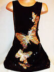 GIRLS 60s SPARKLY BLACK SEQUIN SILVER GOLD DANCING BUTTERFLIES DISCO PARTY DRESS
