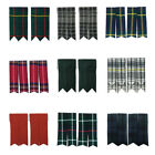 Tartanista Plain & Tartan Royal Stewart Black Watch Many More Kilt Sock Flashes