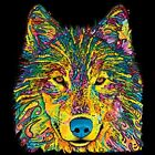 Neon Wolf T Shirt Pick Your Size Youth Small to 6 X Large image