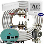 Wet Underfloor Heating Full Systems for 2-12 Rooms Inc Thermostats