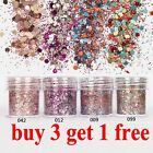 10ml/Box Nail Art Glitter Powder Dust Pink Rose Red Mixed Sequins Decoration DIY