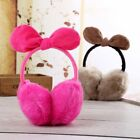 Womens Girls Plush  Various Color Pure  Colour Earmuffs  Bow Knot Round
