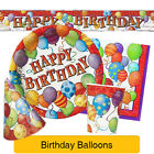 Birthday Balloons - PARTY RANGE (Decorations & Tableware) All/Any Age Theme