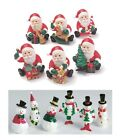 Christmas Cake Decorations - Snowmen Picks/Santa/Topper/Figures/Xmas/Holly/Cake