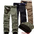 Herren Fleecefutter Thermohose Cargo Winter Hose Fleece Tasche Freizeithose