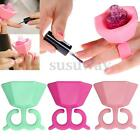 Silicone Nail Art Polish Holder Flexible Durable Wearable Finger Bottle Stand US